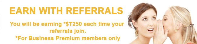 Refer a friend and earn T$250